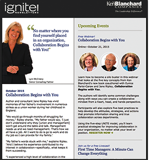 Ignite! Newsletter October 2015