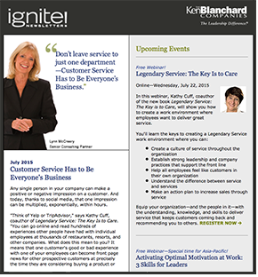 Ignite! Newsletter July 2015